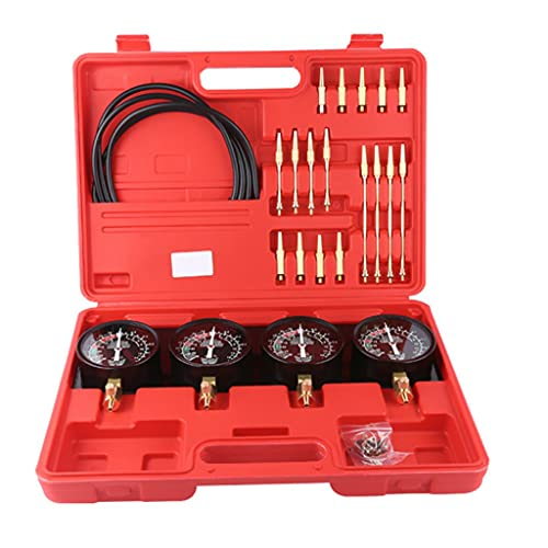 NXYJD Synchronizer Professional Portátil Combustible Vacuum Carburetor Sincronizador Setchronizer Set 4 Gauges Kit de Herramientas para Motocicletas Universal