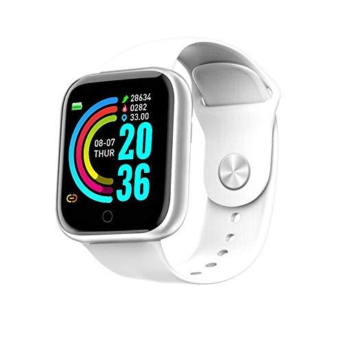 Bluetooth sport armband Color screen slim horloge, met Intelligent leven assistent HD groot scherm telefoon bericht synchronisatie Maak foto's op afstand,White