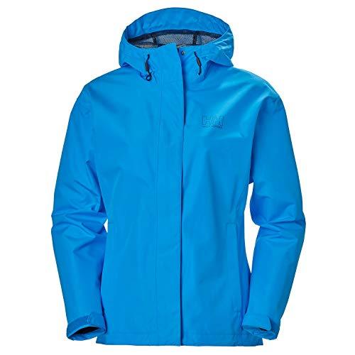 Helly Hansen Women's Seven J Waterproof Windproof Breathable Rain Coat Jacket, 615 Bluebird, Small