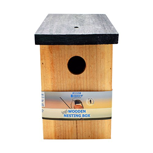 Simply Direct 1 x Pressure Treated Wooden Wild Bird House Wood Nesting Box SDBF017 - Multi Buy Bundles Available