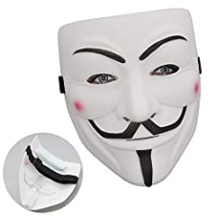 NEW Masks: V for Vendetta! Bring you stand on the opposite side of evil! Ideal for Adults and supervised children Easy to Wear :The mask is secured with a black ribbon ties for easy wear and adjustment. Fashion and simple design,make you feel cool; S...