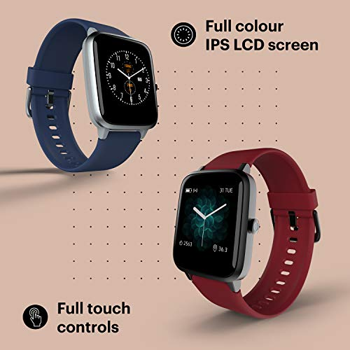 Noise ColorFit Pro 2 Full Touch Control Smart Watch with 35g Weight & Upgraded LCD Display (Cherry Red)