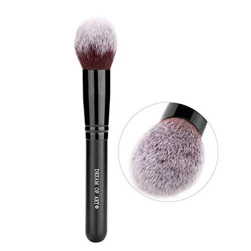 DREAM OF ART Face Kabuki Foundation Brush Flawless Application Makeup Blush Brush for Blending Buffing Stippling Concealer Black 1PCS