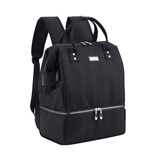 BigForest - Sac à dos pour tire-lait - Mini sac à dos avec port de chargeur USB et poche glacière - Noir