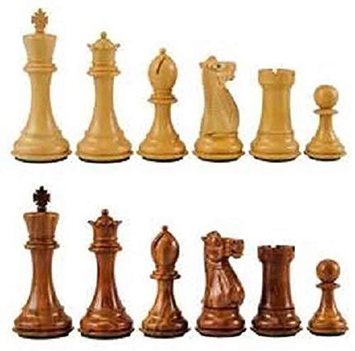 Metallic India Monedas de ajedrez de madera
