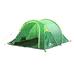 Perfect for camping at festivals this Trespass Festival Pop Up Tent is perfect for 4 people. 1 room, 1 door, mosquito nets. Hydrostatic head 2000mm - the higher the figure, the more waterproof the tent. Pitched size H110, W240, L210cm. Fire retardant...