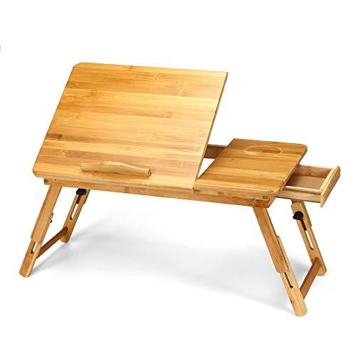 Crown Frühstück Bett Tablett, Multifunktions Lap Schreibtisch mit höhenverstellbaren Beinen Schublade Getränkehalter tragbar für Bett Sofa Studie Arbeit Videospiel