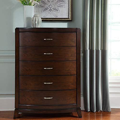 Liberty Furniture Industries Avalon 5 Drawer Chest, 38' x 19' x 52', Dark Truffle