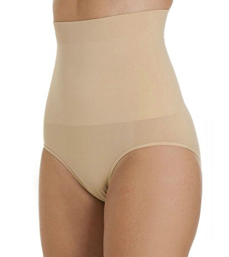 Undercover, slip modellanti da donna, a vita alta, senza cuciture, appiattiscono la pancia e sollevano i glutei Nude Medium