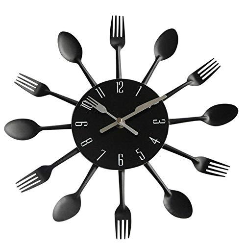 Wanduhr Dekor Modernes Design Splitter Besteck Küche Utensil Wanduhr Löffel Gabel Wanduhr Dekoration Mode Hot New J30