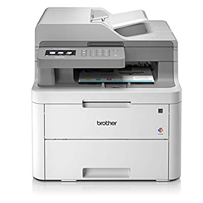 Brother DCP-L3550CDW Colour Laser Printer - All-in-One, Wireless/USB 2.0, Printer/Scanner/Copier, 2 Sided Printing, 18PPM, A4 Printer, Small Office/Home Office Printer