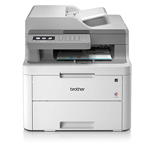 Brother DCP-L3550CDW Colour Laser Printer - All-in-One, Wireless USB 2.0, Printer Scanner Copier, 2 Sided Printing, 18PPM, A4 Printer, Small Office Home Office Printer