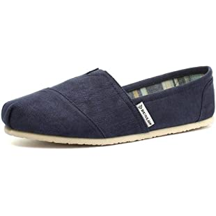 Dunlop Navy Canvas Leather Insole Mens Slip On Espadrilles Size UK 11