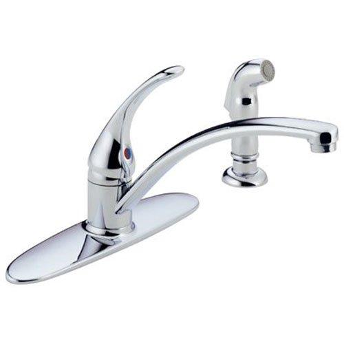 Delta Faucet Foundations Single-Handle Kitchen Sink Faucet, Chrome B4410LF