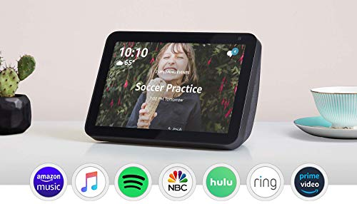 Certified Refurbished Echo Show 8 -- HD smart display with Alexa – stay connected with video calling - Charcoal