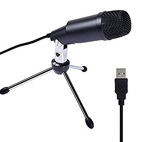 YPJKHM Micrófono de Condensador de Metal, micrófono USB, Conferencia de Juegos de Voz sin micrófono práctico y práctico de Escritorio