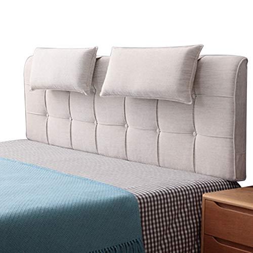 LXLIGHTS kilhuvudgavel, bekväm och andningsbar läskudde, tvättbar dubbelt ryggstöd, förvaringsväska för sängar utan sänggavel (färg: Beige, storlek: 90x58 cm)