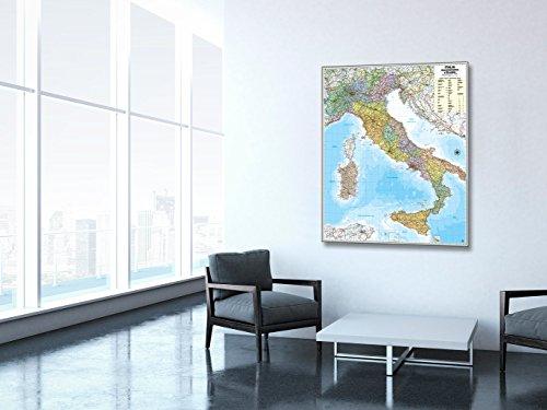 Italia Politica Pannello Cartografico [Magnetico] [102x124 cm] Belletti
