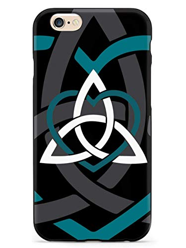 WLYing Case Compatible with iPhone 6/6s with TPU Bumper Protective Phone Case for iPhone 6/6s Celtic Sisters Knot Teal Black