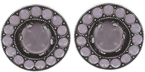 SIMPLY BEAUTIFUL Ohrring | KONPLOTT - Exklusiver Designer-Modeschmuck mit Swarovski Elements | Ohrstecker mit Glitzer-Steinen für Damen in Weiß, Rosa, Rot, Blau, Grün