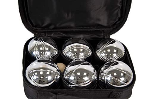 Premiergames Juego de 6 bolas de petanca en bolsa con cremallera