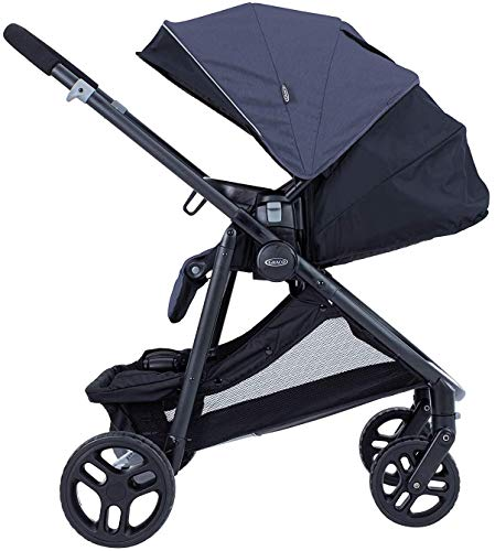 Graco Time2Grow i-Size Travel System (Pushchair & Car Seat, Birth to 3 Years Approx, 0-15kg) with Raincover, Denim Graco Suitable from birth to approx. 3 years (0-15kg) Travel System package with SnugEssentials i-Size infant car seat included Carrycot compatible as a stand-alone or using the main/toddler seat in the rear (suitable from birth up to 9kg) 5