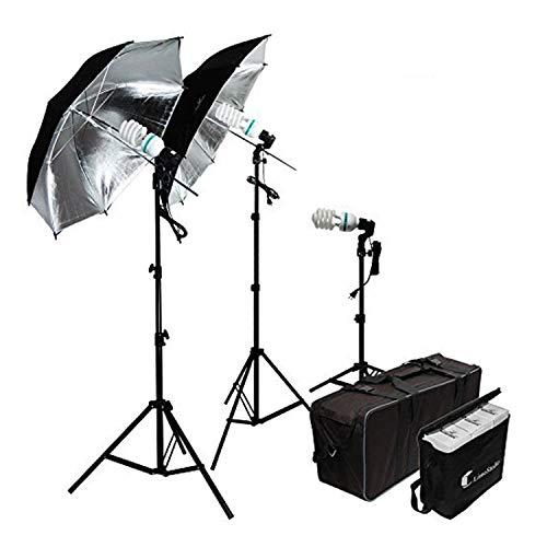LimoStudio 600W Photography Triple Photo Umbrella Light...