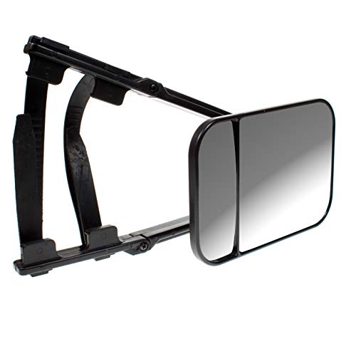 BITS4REASONS MAYPOLE NEW MODEL MP8324 LARGE DUAL GLASS CARAVAN TOWING MIRROR CONVEX AND FLAT GLASS SINGLE MIRROR SUITABLE FOR MPV SUV 4X4