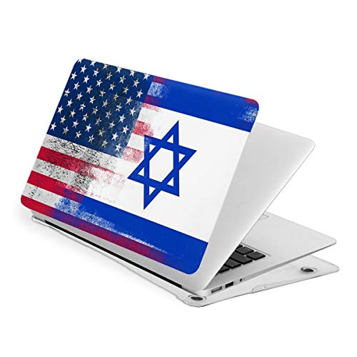 Laptop Case for MacBook Israeli American Half Israel Half America Flag Laptop Computer Hard Shell Cases Cover (New Air13 / Air13 / Pro13 / Pro15)