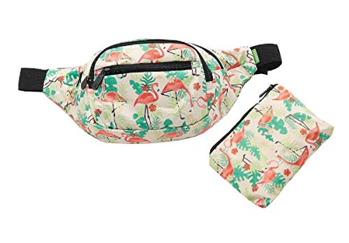 Eco Chic Lightweight Waterproof Foldable Bum Bag/Travel Bag (Flamingo Beige)