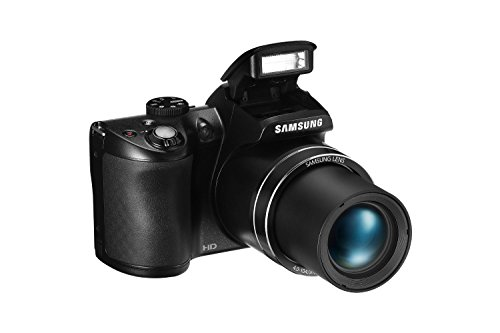 Samsung WB110 Digitalkamera (20,2 Megapixel, 26-Fach Opt. Zoom, 7,6 cm (3 Zoll) TFT-LCD-Display, HD Movies) schwarz
