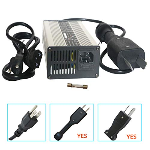 36 Volt 5 Amp Golf Cart Battery Charger with Crowfoot Connector Crows Foot Plug