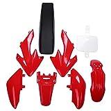 Huante Juego de 8 piezas de 50 cc 110 cc 125 cc 140 cc de plástico de 4 tiempos Crf50 Pit todoterreno para bicicleta – Kit de bricolaje para motocicleta color rojo