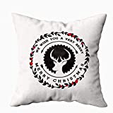 XCNGG Funda de Almohada Throw Pillow Cover Square 18x18 Inch Marble Texture Pattern Counter High...