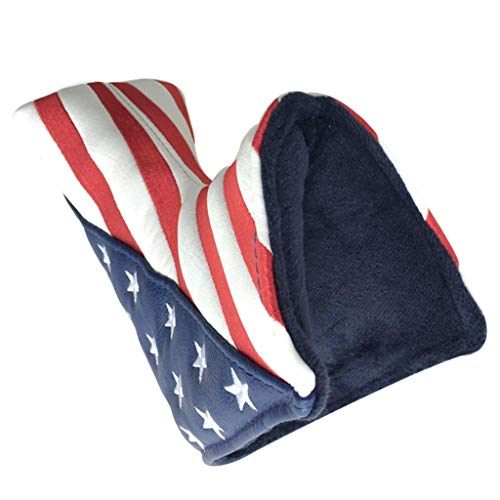 Toygogo Golf Putter Cover Magnetic USA Flag Blade Putter Headcover - Waterproof & Durable