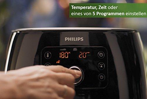 Philips HD9652/90 Airfryer XXL (2225 W, Heißluftfritteuse, für 4-5 Personen, 1400g, digitales Display) schwarz - 5