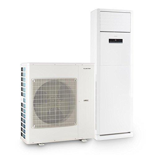 Klarstein Koloss Inverter - Split-Klimaanlage, Split Stand-Klimaanlage, EEK A, 4-stufiger Ventilator, 40000 BTU, 12 kW Kühlleistung, 13,6 kW Heizleistung, 16 bis 30 °C, Fernbedienung, weiß