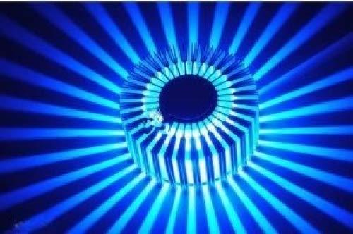 AC85~265V Energy Saving 3W contemporaine Led mur de lumi¨¨re avec Light Scattering Design UFO rond Palisade corps froid simple blanc/bleu