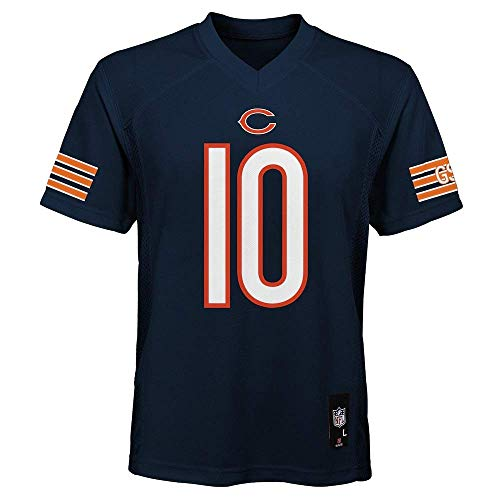 Mitchell Trubisky Chicago Bears NFL Youth 8-20 Navy Home Mid-Tier Jersey (Youth Medium 10-12)