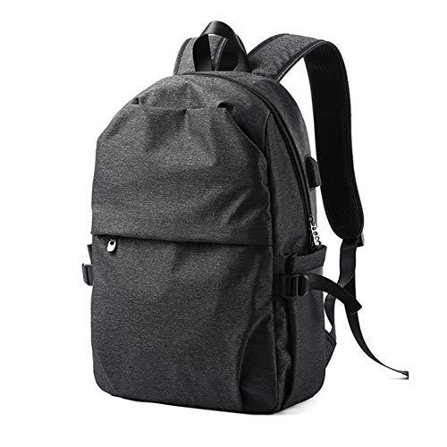 Zakelijke Laptop Rugzak voor Jongens Mannen, Ritssluiting Daypack met USB Opladen/fit Werk