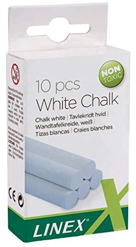 Linex CCCHW Blanco 10 pieza(s) - Tizas (Blanco, 1 colores, redondas, 5 mm, 11,5 mm, 1 mm)