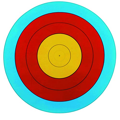 Southland Archery Supply 5-Ring Paper Target Face for Bow Shooting Range Gun Rifle Practice Compound Recurve Competition (6/Pack, 60cm/Approx. 24' (5-Ring))