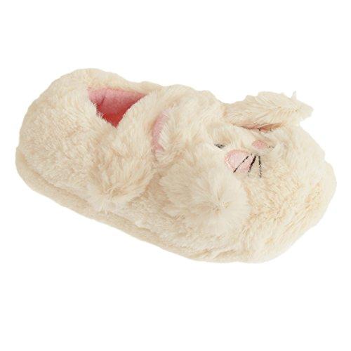 Mädchen Bunny Hasen Design Hausschuhe (29-31 EU) (Creme)