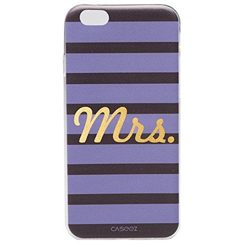 Caseez 'Mrs.-Gold-Cover Posteriore Rigida per Apple iPhone 6 Plus/6s, Colore: Viola
