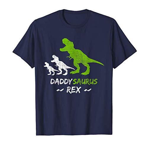 TAMALLU Herren T-Shirt Dinosaurier Gedrucktes Muster Cool Männer Tee Rundhals Polo Bluse(Marine,S(S))