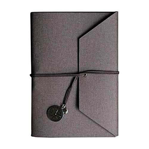 Cuaderno de hojas sueltas A5 de piel sintética desmontable con tres pliegues y hojas sueltas para mujeres con cerradura