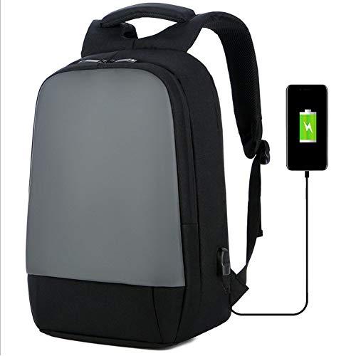 WHCCL Rugzak voor laptop, rugzak, 17 inch, USB, met rugzak, hoge capaciteit, ademend en waterdicht, voor heren, zwart