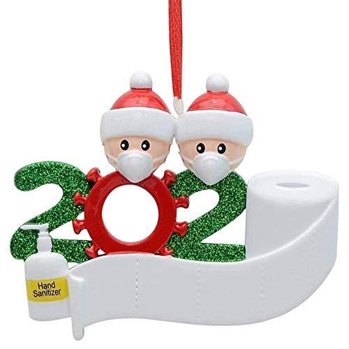 Aclouddatee 2020 Weihnachtsschmuck, 2020 Personalisierte Angstde Familie,Weihnachten Feiertags Dekorationen DIY Name Segen Schneemann Weihnachtsbaum Hängen Anhänger…