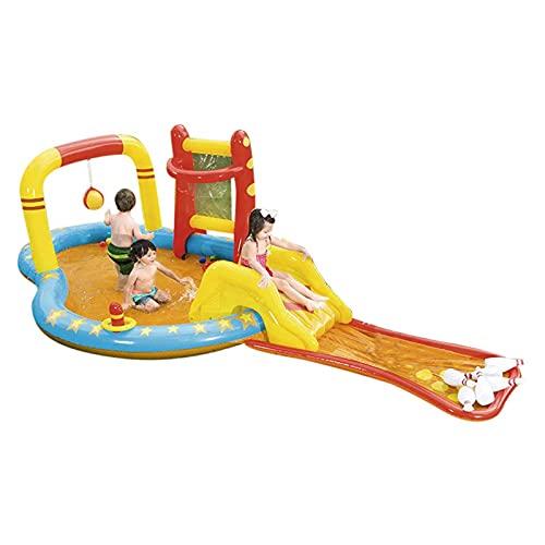 RJMOLU Piscina Inflable del Centro de Juegos para niños, Centro de Juegos de Agua Junto al mar, Centro de Juegos de Piscina Inflable, Jardín Play Pool Ocean Play Center Water Fun Pool para Edades 3