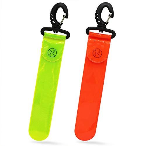 Labewin Reflektierende Leuchttasche Anhänger zum Laufen Radfahren Hund Gehen Joggen Sportausrüstung Sichtbarkeit Erwachsene Kinder Sicherheit Zubehör Dekoration mit LED